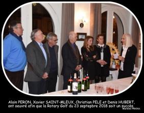 """Rotary de Combourg/Dol-de-Bretagne, remise du chèque à l'Association """"Ensemble pour Matéo"""""""